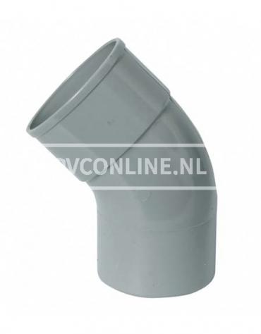 PVC BOCHT 1 X LM/S 125 67*