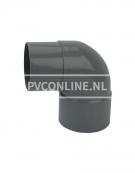 PVC BOCHT 1 X LM/S 125 90*