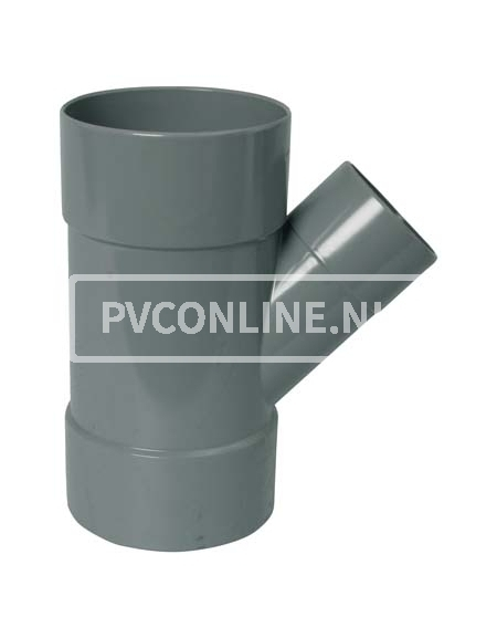 PVC T-STUK 3 X LM 125 X 75 45*