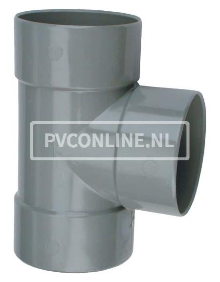 PVC T-STUK 3 X LM 110 X 110 90* HAAKS