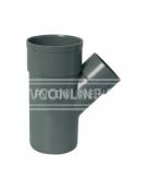 PVC T-STUK 2 X LM/S 50 X 50 45*