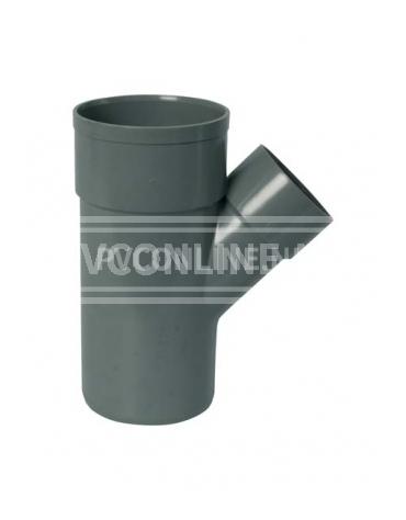 PVC T-STUK 2 X LM/S 125 X 75 45*
