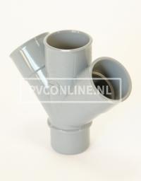 PVC DUBBEL T-STUK 3 X LM/S 5045*