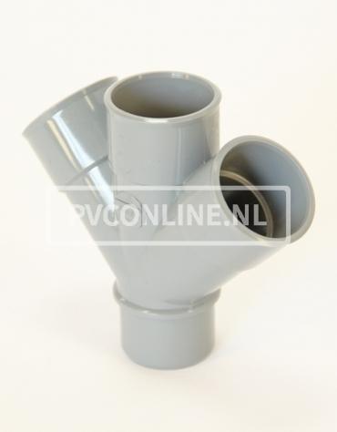 PVC DUBBEL T-STUK 3 X LM/S 75 45*