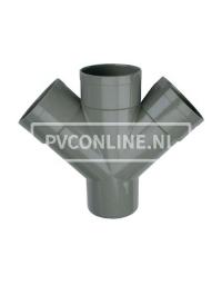 PVC DUBBEL T-STUK 3 X LM/S 125 45*