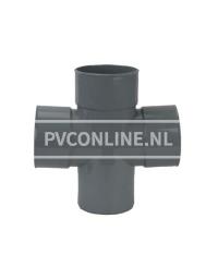 PVC DUBBEL T-STUK 3 X LM/S 125 90*