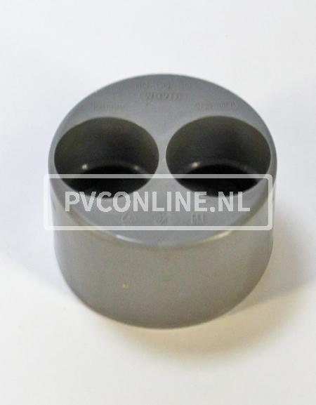 PVC VERLOOPRING DUBBEL 110 X 50 X 50
