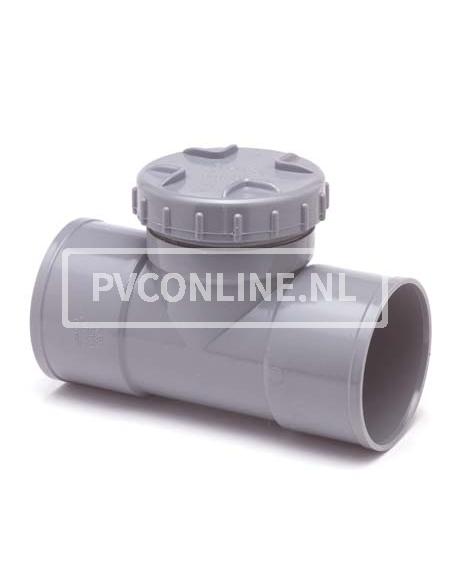 PVC ONST. T-STUK SCHROEF 110 2 X LM