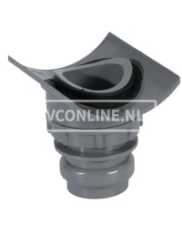 PVC KLEMZADEL 125 X 40 (let op! Gat boren 57 mm)