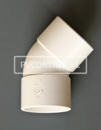 PVC BOCHT 2 X LM 40 45 WIT