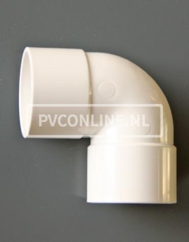 PVC BOCHT 2 X LM 40 90 WIT