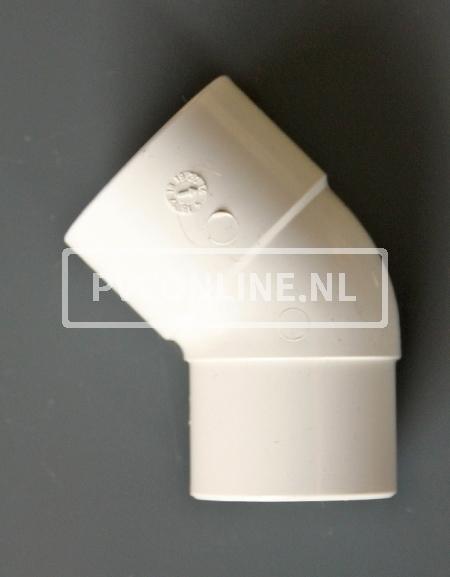 PVC BOCHT 1 X LM/S 40 45 WIT
