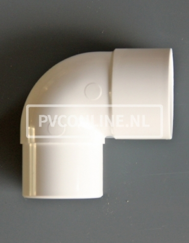 PVC BOCHT 1 X LM/S 40 90 WIT