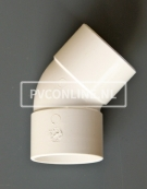 PVC BOCHT 2 X LM 50 45 WIT