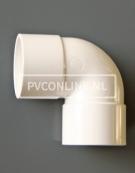 PVC BOCHT 2 X LM 50 90 WIT