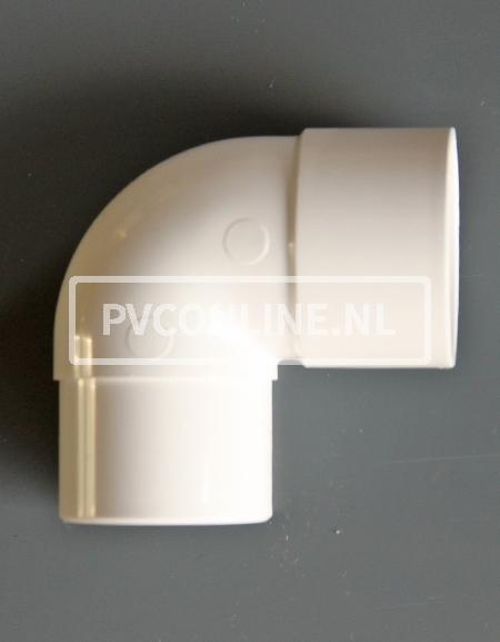 PVC BOCHT 1 X LM/S 50 90 WIT
