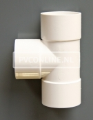 PVC T-STUK 3 X LM 40 X 40 90 WIT
