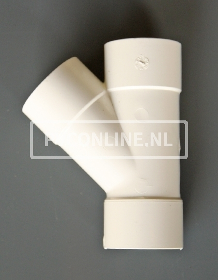 PVC T-STUK 3 X LM 50 X 50 45 WIT