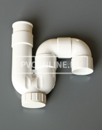 PVC UNIVERSEEL SIFON LIJMBAAR 40 WIT