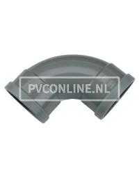 PVC BOCHT 2 X MA 125 90*