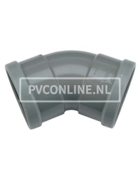 PVC BOCHT 2 X MA 160 45*