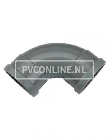 PVC BOCHT 2 X MA 160 90*