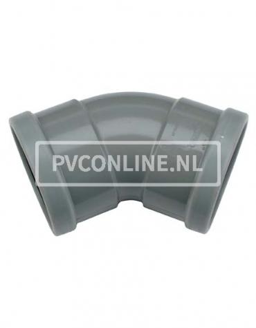 PVC BOCHT 2 X MA 200 45*