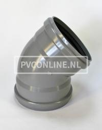 PVC BOCHT 2 X MA 250 KORT 45*