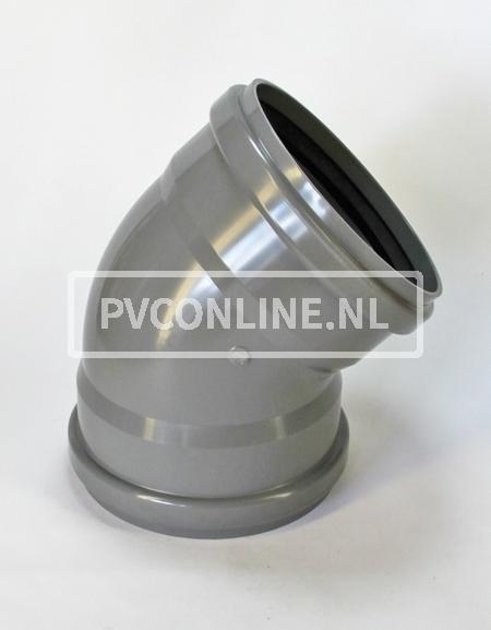 PVC BOCHT 2 X MA 315 KORT 45*