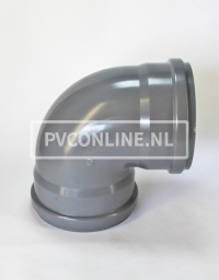 PVC BOCHT 2 X MA 315 KORT 90*