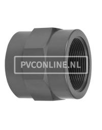 PVC HD DRAADSOK VERLOPEND 1/4 BI x 1/2 BI PN 10 *VDL*