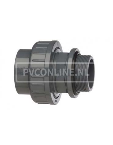PVC HD ZWEMBADKOPPELING 50 x 1 1/2 (M) *VDL*