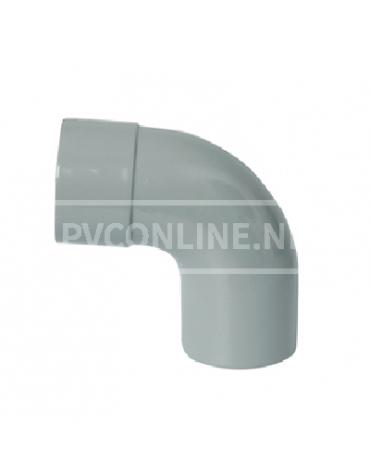 PVC BOCHT 1 X LM/S 75 90*