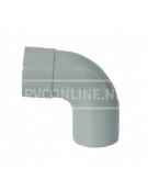 PVC BOCHT 1 X LM/S 50 90*