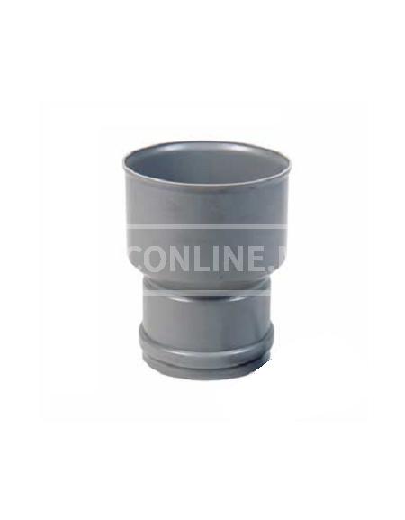 PVC OVERGANGSSTUK PVC/GRES-GY 125X206