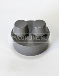 PVC BELUCHTER 110. 2X BEL.40 IN VERLOOPRING 110X40X40