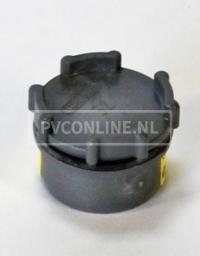 PVC EINDSTUK MET SCHROEFDEKSEL 32