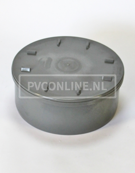 PVC EINDSTUK MET SCHROEFDEKSEL 250