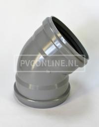 PVC BOCHT 2 X MA 250 KORT 15*