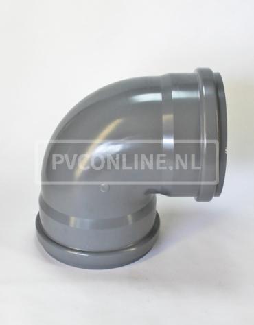 PVC BOCHT 2 X MA 250 KORT 90*