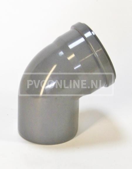 PVC BOCHT 1 X MA/S 250 KORT 15*