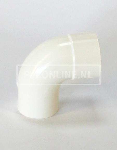 PVC BOCHT HWA M/VS 80 WIT 90*