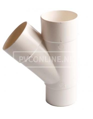PVC T-STUK M/VS 80 WIT 45*