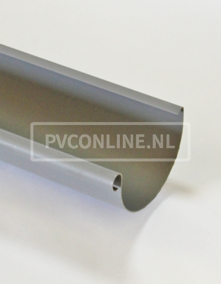 PVC S-LON KRAALGOOT 125 MM GRIJS LGT 4 MTR