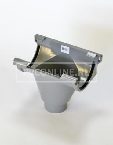 PVC GOOTUITLOOP 125 KLEM (80mm spie)