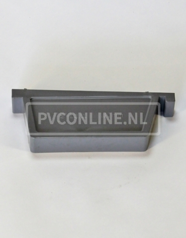 PVC BAKGOOT EINDSTUK LINKS 180 MM